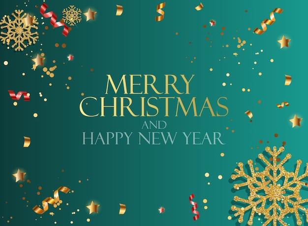 Nowy rok wakacje i wesołych świąt bożego narodzenia tło