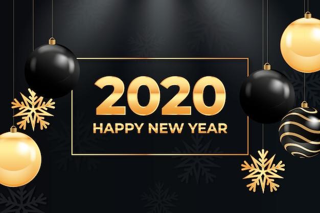Nowy rok złote tło