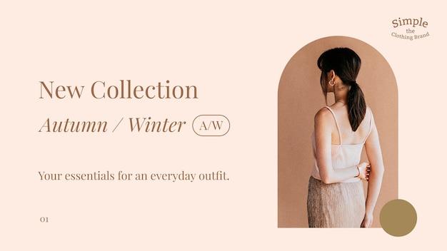 Nowy szablon kolekcji mody na baner w mediach społecznościowych