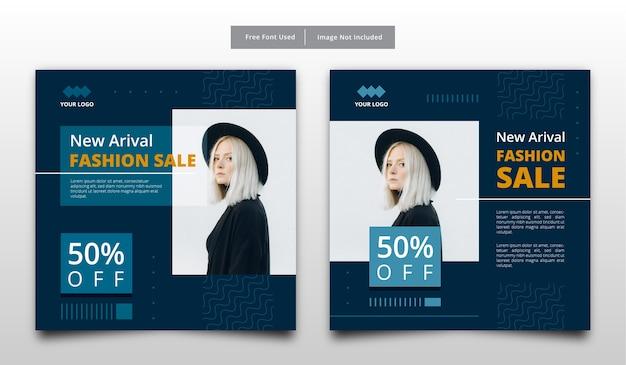 Nowy szablon transparentu sprzedaży mody.