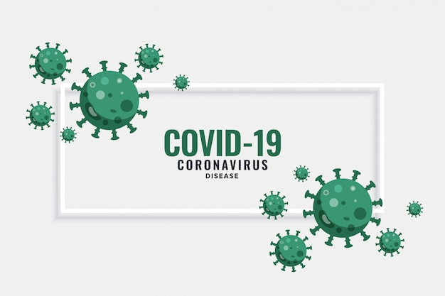 Nowy sztandar koronawirusa covid-19 z komórkami wirusa