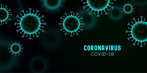 Nowy sztandar koronawirusa covid-19 z premią za koncepcję komórek wirusowych
