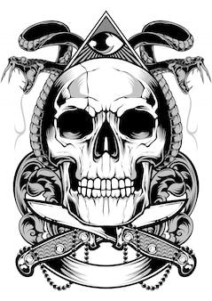 Nóż czaszki