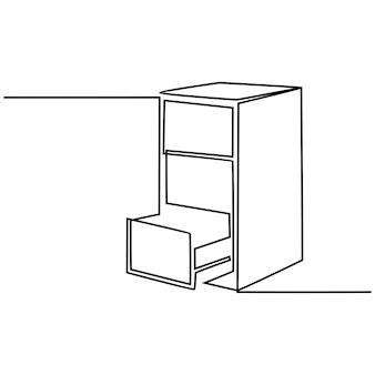 Nóż do sera ciągłego rysowania linii ilustracji wektorowych