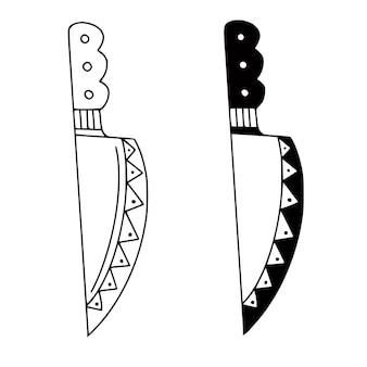 Nóż ręcznie rysowane ilustracji.