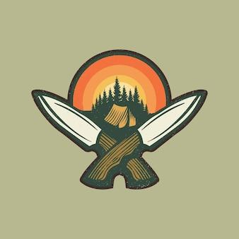 Nóż turystyczny wilderness