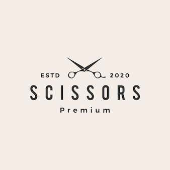 Nożyczki do włosów hipster vintage logo