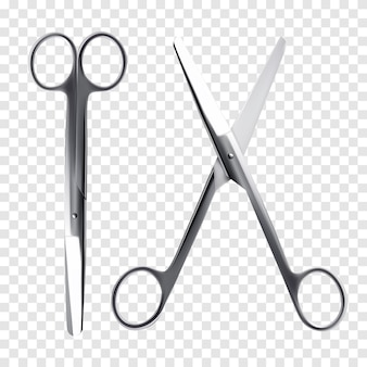 Nożyczki wektor realistyczne.