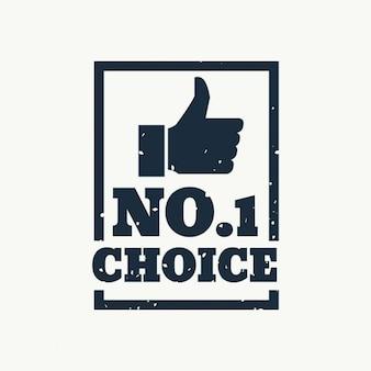 Nr 1 lub wybór najlepszy wybór pieczęć wektor