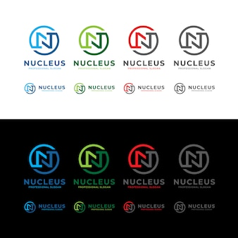 Nucleus n letter circle logo
