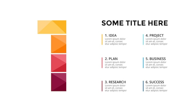 Numer 1 infografika szablon prezentacja slajdów projekt napisów kreatywna czcionka
