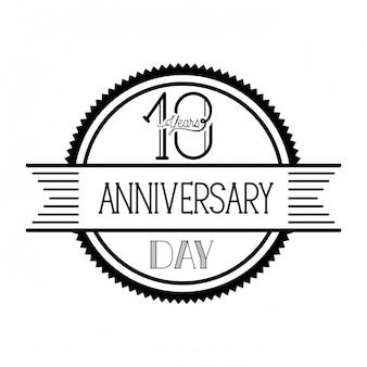 Numer 10 na godło lub insygnia z okazji rocznicy