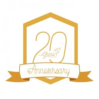 Numer 20 na godło lub insygnia rocznicowe