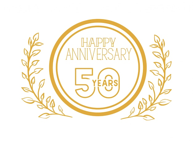Numer 50 na rocznicowy emblemat lub insygnia
