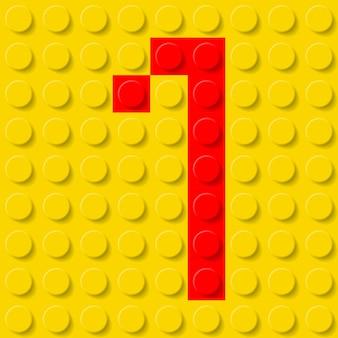 Numer jeden w zestawie konstrukcyjnym.