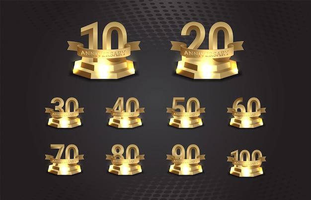 Numer rocznicy na złotym podium