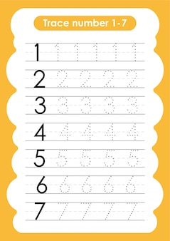 Numer śledzenia od 1 do 7 - dla dzieci w wieku przedszkolnym i przedszkolnym