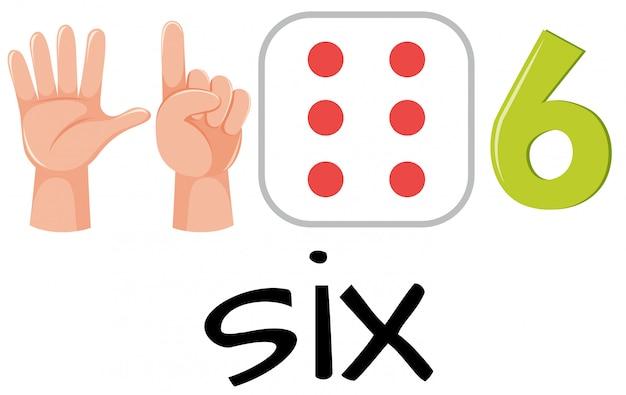 Numer sześć z obrazami