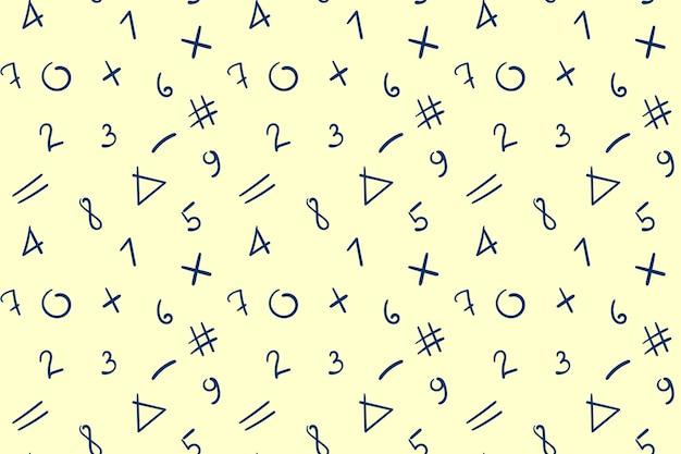 Numer wzór. streszczenie tło matematyki dla szkoły lub uniwersytetu.