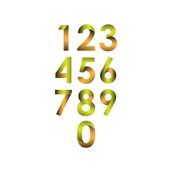 Numer zestaw ilustracji wektorowych szablon projektu