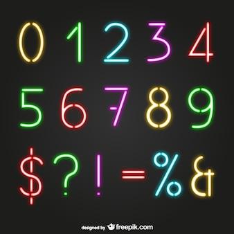 Numery w stylu neon