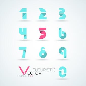 Numery widmowe abstrakcyjne kolorowe kształty futurystyczne