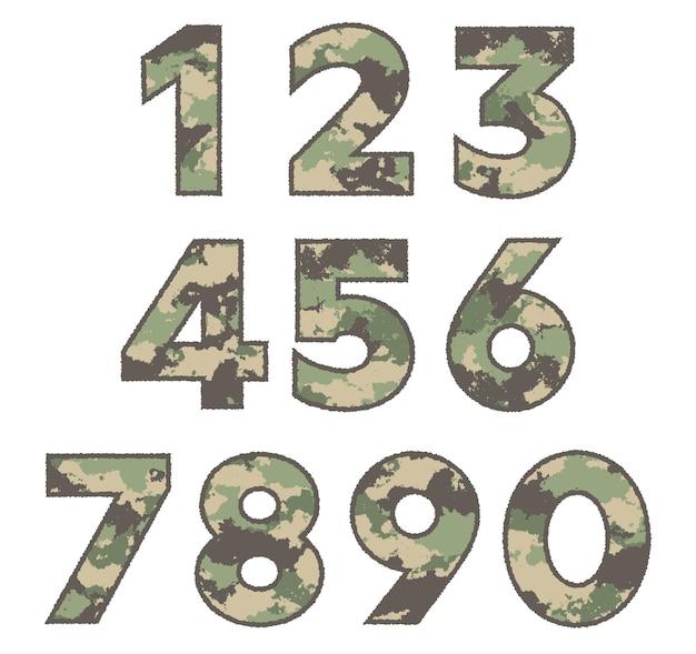 Numery wojskowe w stylu grunge