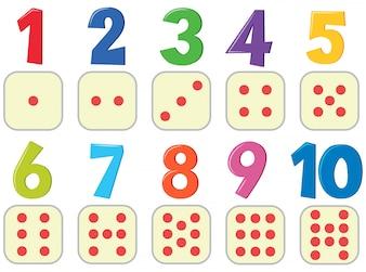 Numery z plakatu obrazu