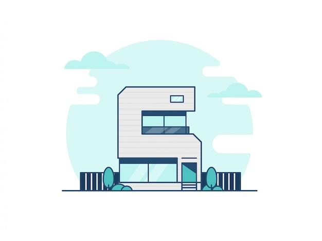 Numeryczna ilustracja budynku