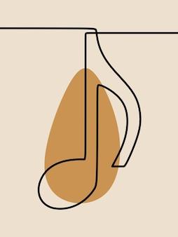 Nuta jednoliniowa ciągła grafika liniowa
