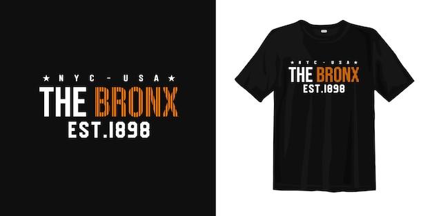 Nyc usa the bronx est. 1898. odzież miejska w stylu t-shirt