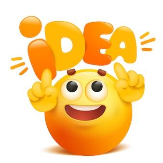 O pomysł żółty emotikon postać z kreskówki emoji