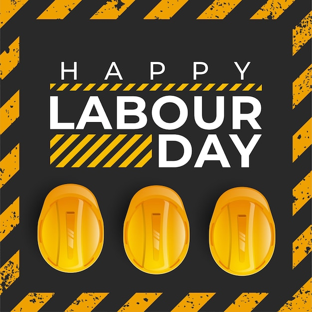 Obchody międzynarodowego dnia pracowników z żółtym hełmem ochronnym