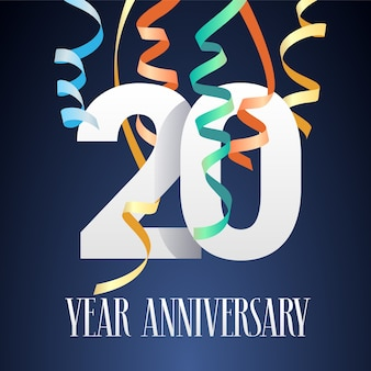 Obchody rocznicy 20 lat projekt szablonu