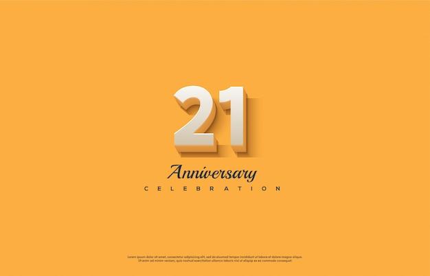 Obchody rocznicy z liczbami w kolorze białym.
