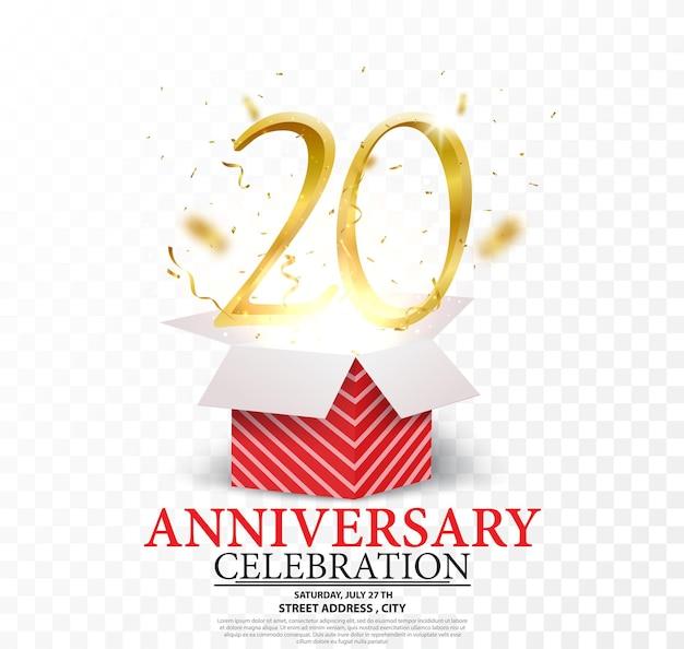 Obchody rocznicy złote cyfry z brokatowym złotym konfetti