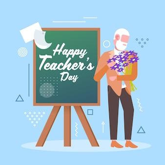 Obchody święta szczęśliwego dnia nauczyciela