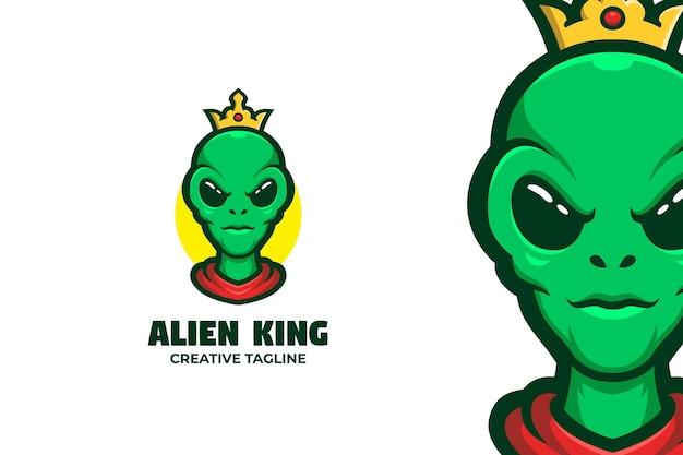 Obcy król potwór maskotka logo znak