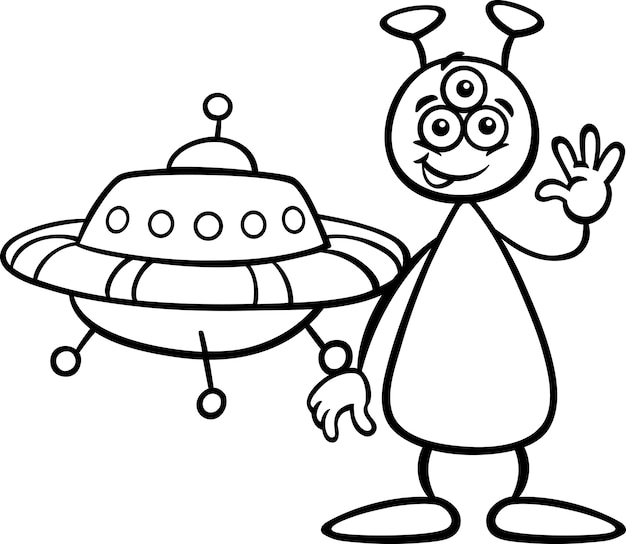 Obcy z ufo dla kolorowanka