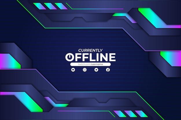 Obecnie styl rgb tła offline