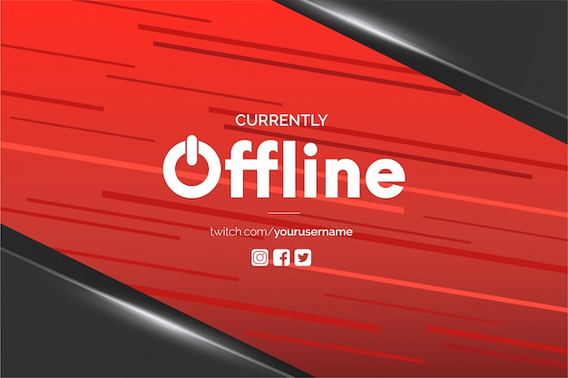 Obecnie tło banera twitch offline