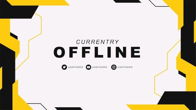 Obecnie tło mediów społecznościowych w trybie offline z abstrakcyjnym żółtym