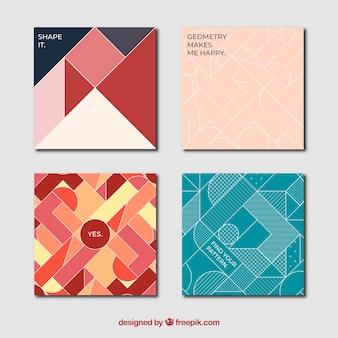 Obejmuje kolekcję o geometrycznych kształtach