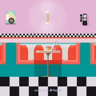 Obiad płaski ilustracja