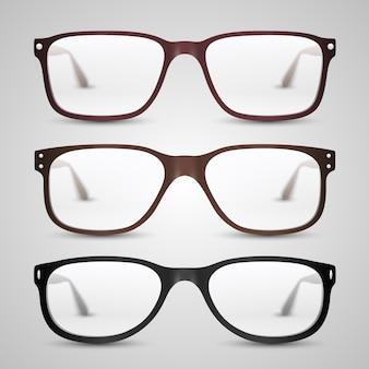 Obiekt przezroczystych okularów. ilustracja wektorowa sztuki 10eps