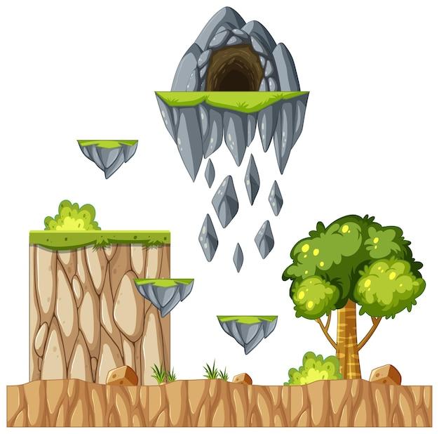Obiekty i elementy gry platformowej