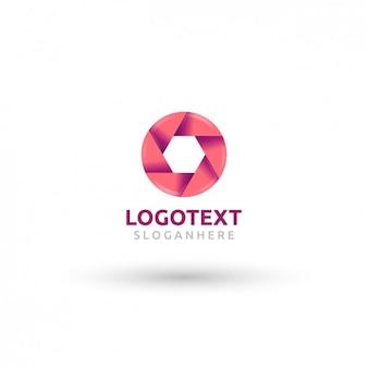 Obiektyw różowy logotyp