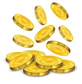 Objętych złote monety ilustracji