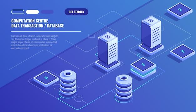 Obliczenia dużego centrum danych, przetwarzanie informacji, baza danych