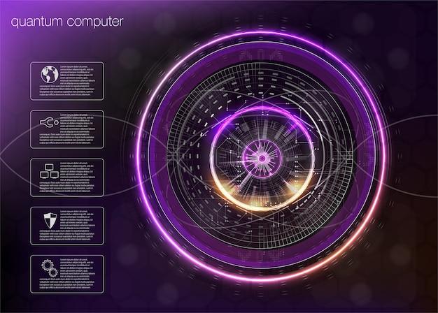 Obliczenia kwantowe, algorytmy big data, obliczenia kwantowe, technologie wizualizacji danych, sztuczna inteligencja głębokiego uczenia, infografiki kryptografii sygnału.